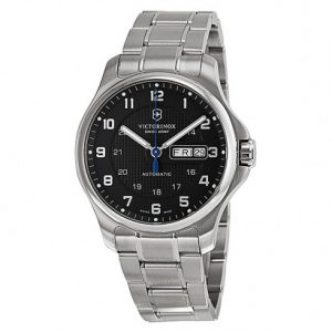 victorinox-swiss-army-officers-automatic-black-dial-stainless-steel-mens-watch-241591
