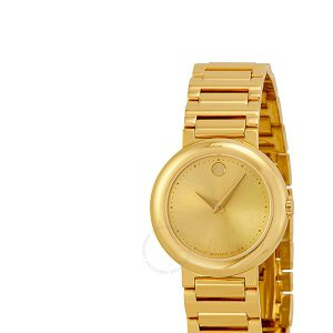 Movado Concerto Woman's Dress Watch – Gold-Tone Dial Case & Bracelet 0606704