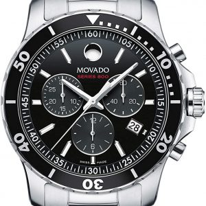 Movado Stainless Steel Chronograph Series 800 Men's Watch 2600142