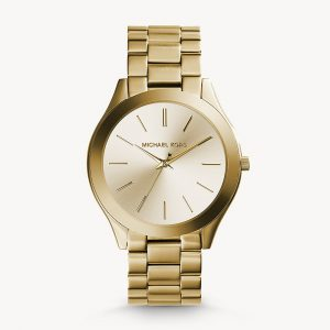 Michael Kors Gold Tone Runway Slim Watch MK3179