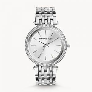 Michael Kors Silver Tone Glitz Darci Watch MK3190