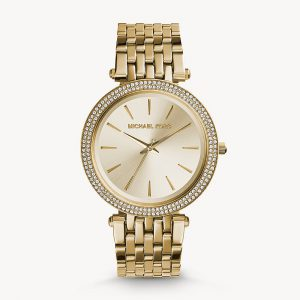 Michael Kors Gold Tone Glitz Darci Watch MK3191