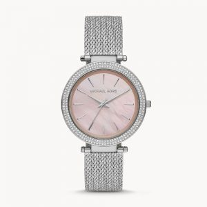 Michael Kors Darci Three-Hand Silver Crystal Watch MK4518