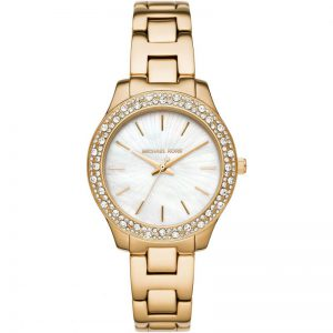 Michael Kors Liliane Gold Tone Stainless Steel Watch MK4555