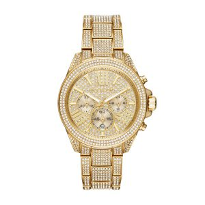 Michael Kors Chronograph Gold Tone Glitz Watch MK6355