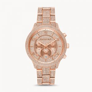 Michael Kors Runway Chronograph Rose Gold Tone Watch MK6635
