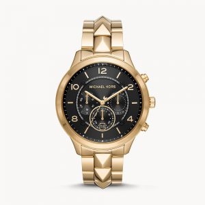 Michael Kors Runway Mercer Chronograph Gold Tone Watch MK6712