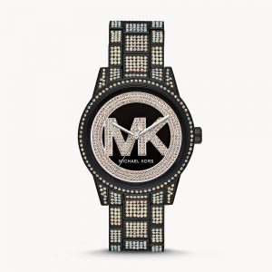 Michael Kors Ritz Three Hand Glitz Stainless Steel Watch MK6733