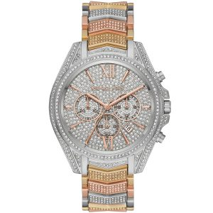 Michael Kors Whitney Chronograph Tri Tone Pave Watch MK6741
