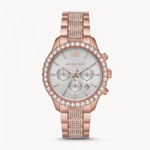 Michael Kors Layton Chronograph Pale Rose Gold Tone Stainless Steel Watch MK6791