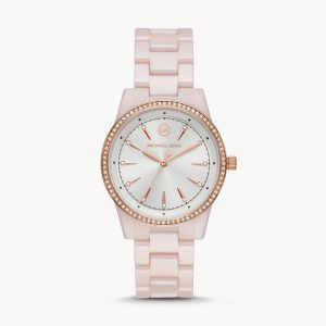 Michael Kors Ritz Three-Hand Pink Watch MK6838