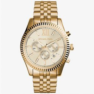 Michael Kors Lexington Gold Tone Watch MK8281