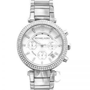 Michael Kors Parker Silver Tone Watch MK5353