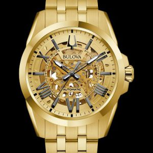 Bulova Automatic Gold Tone Watch 97A162