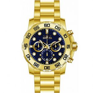 Brand New Invicta Men's Pro Diver Gold Stainless-Steel Quartz Diving Watch 22228