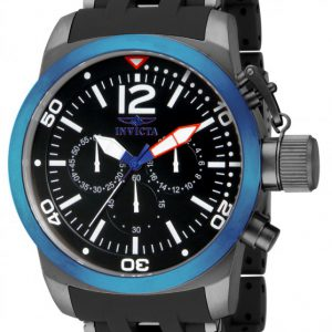 Brand New Invicta Men's Sea Spider Blue Case Black Polyurethane Links Watch 14869