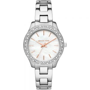 Michael Kors Liliane Silver Tone Watch MK4556