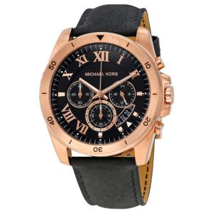 Michael Kors Brecken Chronograph Leather Band Watch MK8544