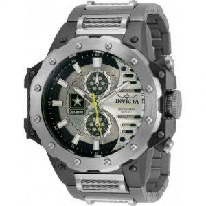 Brand New MEN'S InvictA U.S. ARMY TITANIUM GUNMETAL 50MM Lightweight watch 32986