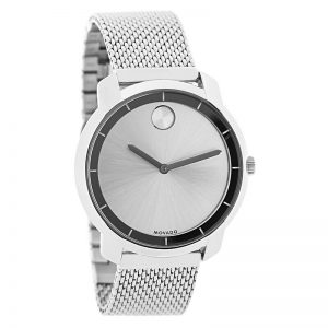 Movado Bold Ladies Silver Dial Mesh Bracelet Swiss Quartz Watch 3600241