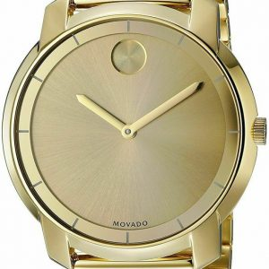 Movado Swiss Women's 'Bold' Gold-Tone Stainless Steel Mesh Watch 3600242