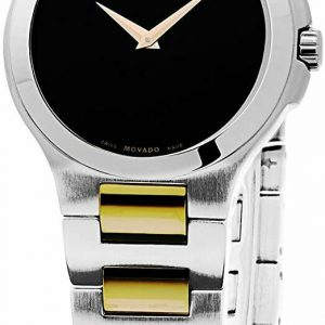 Brand New  MOVADO Woman's 'Museum' TTone SSteel Watch 0606182