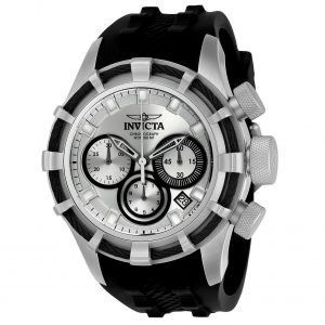 Brand New Invicta Bolt Quartz Chronograph Date Black Silicone Strap Mens Watch 22147