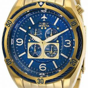 Brand New Invicta Men's Aviator 50 mm Blue Dial Stainless Steel Watch 28089