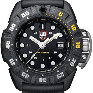 Luminox Scott Cassell Deep Dive Special Edition Black Yellow (XS.1555): 300 M Water Resistant, Carbonox Super Lightweight Case, Sapphire Crystal