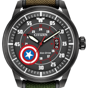 CITIZEN Eco-Drive MARVEL Captain America Cordura Camoflouge WATCH AW1367-05W