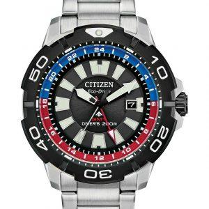 Citizen Eco-Drive Men's Promaster GMT Diver S Steel Bracelet Watch BJ7128-59E