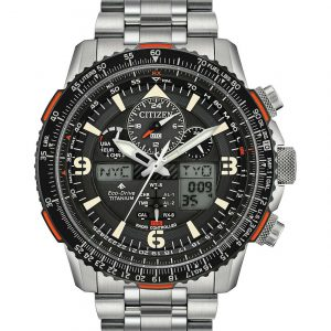 Citizen Men's Titanium Skyhawk Eco-Drive Atomic Time Keeping Watch JY8108-53E