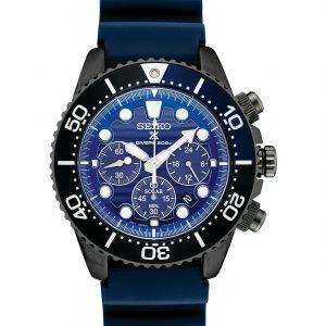 *BRAND NEW* Seiko Men's Solar Prospex Chrono Blue Dial Blue Strap Watch SSC701