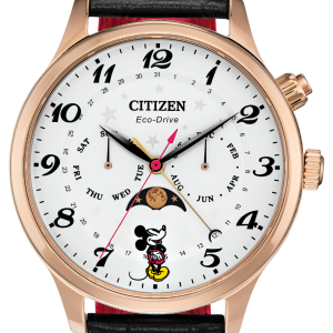 Citizen AP1053-15W Disney Mickey Mouse 43mm Case Leather Strap Watch