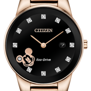 Citizen Eco-Drive Mickey Mouse Women's Diamond Accent 30mm Watch GA1056-54W