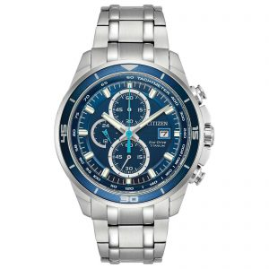 Citizen Eco-Drive Blue Dial Men's Titanium Watch CA0349-51L