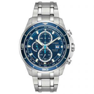 Citizen Eco-Drive Blue Dial Men's Titanium Watch CA0349-51L