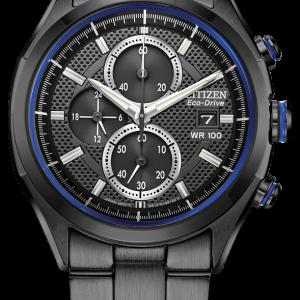 Citizen Eco Drive Men's Black Dial Black Bracelet Watch CA0438-52E