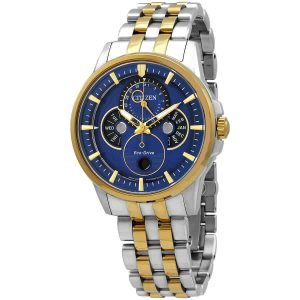 Citizen Eco-Drive Calendrier Moonphase Two-Tone Steel Men's Watch BU0054-52L