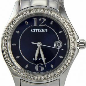 CITIZEN Silhouette Crystal Eco-Drive Blue Dial Ladies Watch – FE1140-86L