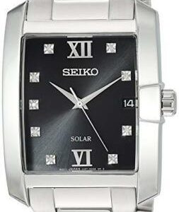 Seiko Men's CORE 9-Diamond Solar Powered Watch SNE461