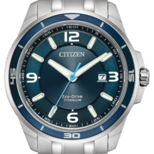 Citizen Eco-Drive Men's Brycen Blue Dial Sapphire Titanium Watch BM6929-56L