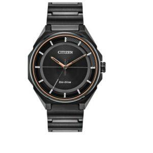 Citizen Mens Eco-Drive Black Dial Bracelet Band Watch BJ6535-51E