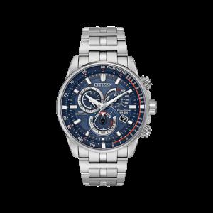 Citizen Men's PCAT Blue Dial Stainless Steel Bracelet Watch CB5880-54L