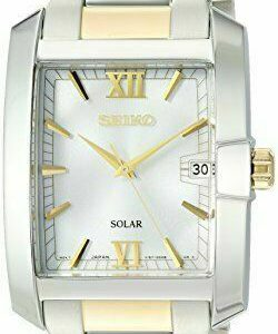 Seiko Men's 'Solar Diamond' Quartz Stainless Steel Two Tone Watch SNE463