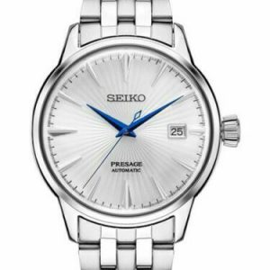 Seiko Men's Presage Automatic Sunray Dial Stainless Steel Watch SRPB77