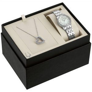 Bulova Women's Crystal White Dial Silver Tone Bracelet Watch 96X155