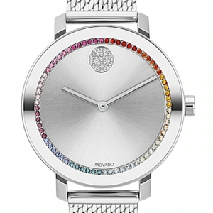 New Movado Bold Evolution Mesh Steel Bracelet Women's Watch 3600698