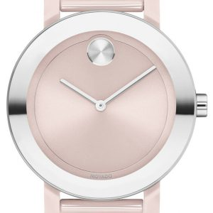 MOVADO BOLD Evolution 36MM Blush Dial Pink Ceramic Women's Watch 3600709