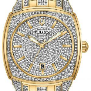 Bulova Men's Phantom Crystal Pave Dial Watch 98B323